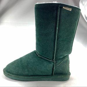 BearPaw Sheepskin/Suede Winter Boots Womens Sz 10